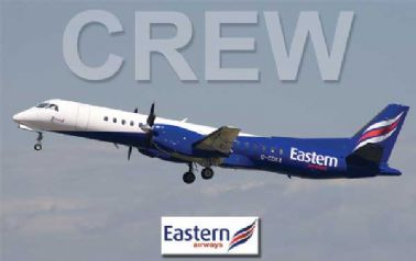 EASTERN AIRWAYS Saab-2000 Crew Tag